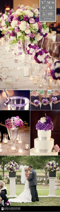 Pretty purple Vows that Wow wedding at the Westin Stonebriar images captured by John Christopher Photographs!