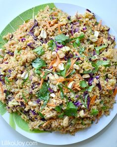 Thai style quinoa salad with coconut curry dressing