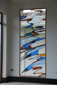 Modern Stained Glass, Stained Glass Door, Stained Glass Designs, Stained Glass Panels, Stained Glass Projects, Stained Glass Patterns, Mosaic Art, Mosaic Glass, Glass Film Design