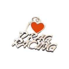 Charm Necklace - I Love Drag Racing!