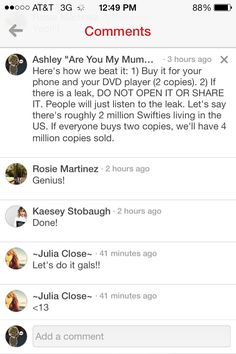 GUYS, SPREAD THIS!!!! LET'S BEAT THE RECORD!!!!!!! ALBUM 5 MUST SELL OUT MORE COPIES IN THE FIRST WEEK THAN RED DID!!!!!!