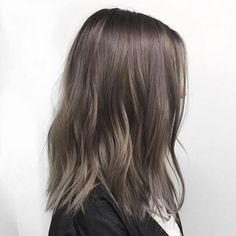 Long Wavy Ash-Brown Balayage - 20 Light Brown Hair Color Ideas for Your New Look - The Trending Hairstyle Cool Brown Hair, Brown Hair Looks, Ash Brown Hair Color, Brown Hair Shades, Brown Hair With Blonde Highlights, Brown Ombre Hair, Ombre Hair Color, Light Brown Hair, Hair Highlights