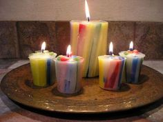 DIY Vertical Chunk Candles