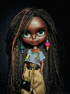 Reserve please do not buy Ooak factory blythe doll SALHIESHA reserve please do not buy Pretty Dolls, Cute Dolls, Beautiful Dolls, Doll Clothes Barbie, Doll Toys, Barbie Dolls, African American Dolls, Dream Doll, Valley Of The Dolls