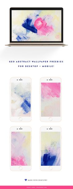 It's Friday and you know what that means... Wallpaper freebies! Download your desktop and mobile abstract geo wallpapers here. - We Are Kemy