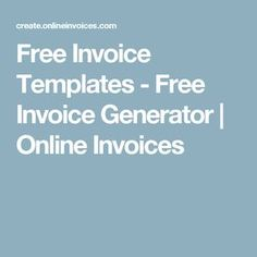 Travel Service Invoice  Free Invoice Template Online