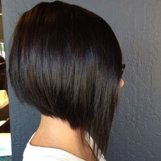 brunette+angled+stacked+bob+for+straight+hair