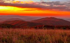 Max Patch Mountain, Great Smoky Mountains National Park, NC & TN, USA