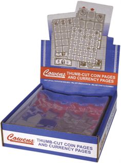 100 Cowens 3 Pocket for Large Currency Pages Best Quality Full Box