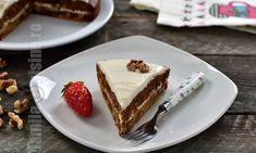 Prajitura cu morcov fara zahar (CC Eng Sub) No Cook Desserts, Sugar Free Desserts, Healthy Cookies, Healthy Sweets, Sugar Free Carrot Cake, Raw Food Recipes, Cooking Recipes, Something Sweet, Deserts