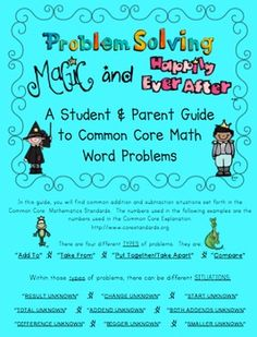 Here's a fabulous handbook that focuses on common addition and subtraction situations. An example is given for each type of word problem. A bar model is also provided for each word problem example.