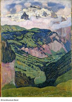 Ferdinand Hodler - The Jungfrau seen from Isenfluh, 1902