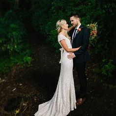 How's this for a wedding gown?! Full sequin - go hard or go home ladies!! Check out more of Siobhan & Bills gorgeous wedding day at - goo.gl/99yxUu ❤ Link in Bio .  .  .  .  .  .  .  .  .  .  #newzealand #wairarapawedding #featherston #woods #greenery #brideandgroom #tarurekaestate #sequins #sequinweddingdress #weddingphotography #Wedding #nzWedding #rubyandwolf