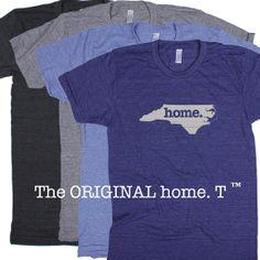 North Carolina Home. T shirt Men's/Unisex on Etsy, $21.95