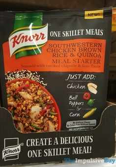 Knorr One Skillet Meals Southwestern Chicken Brown Rice & Quinoa Meal Starter.