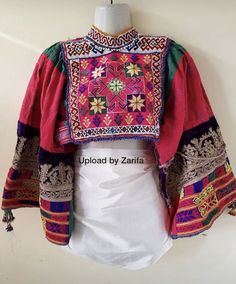 Afghan Clothes, Afghan Dresses, Ethnic Fashion, Boho Fashion, Embroidered Clothes, Russian Fashion, Vintage Wear, Traditional Outfits, Kimono Top