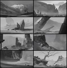 sketches, Andrei Kotnev on ArtStation at https://www.artstation.com/artwork/8k3aw
