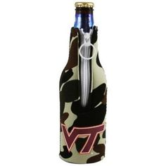 Virginia Tech Hokies Camo Bottle Suit Cooler
