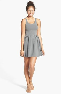 Frenchi® Cross Back Skater Dress Nordstrom. So many colors, and only $38  Love it!