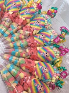 7th Birthday Party Ideas, Unicorn Themed Birthday Party, Birthday Gift Bags, Birthday Parties, 5th Birthday, Sweetie Cones, Sweet Hampers, Sparkle Party, Troll Party