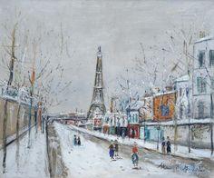 The Eiffel`s Tower at Paris, Maurice Utrillo Maurice Utrillo, Paris Painting, Raoul Dufy, Fauvism, Art Nature, Tour Eiffel, All Art, Paris Skyline, Abstract Art