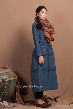 Oversize Blue Loose Dress / Asymmetric Extravagant by camelliatune