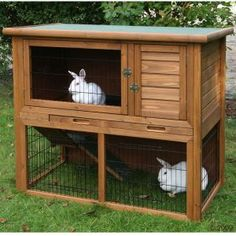 Outdoor Rabbit Hutches - Could add the bottom area like this to the hutch we already have.