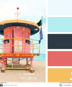 Beach brights colors