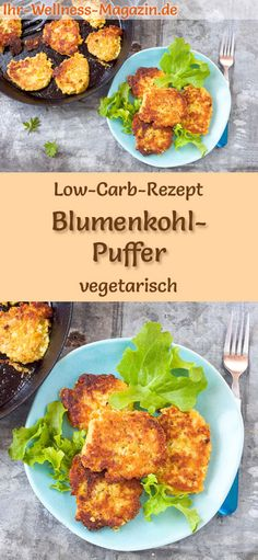 Low Carb Blumenkohl-Puffer - gesundes, vegetarisches Hauptgericht Low-carb recipe for cauliflower pancakes - vegetarian dinner or lunch, low-calorie, low-carb, healthy and ideal for losing weight carb lunch Rezepte Vegetarian Main Course, Vegetarian Lunch, Vegetarian Dinners, Vegetarian Recipes, Vegetarian Pancakes, Lunch Recipes, Healthy Dinner Recipes, Low Carb Recipes, Lunch Meals