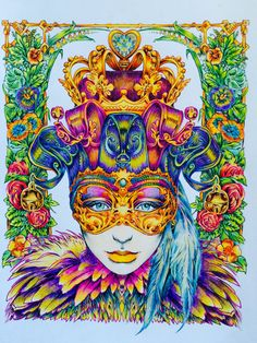 I love Bennett Klein   Design by Bennett Klein, from Colour My Sketchbook Colouring by Sam Dreyer