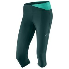 Nike Twisted Running Capri - Women's - Black/Thunder Blue/University Blue/Matte Silver
