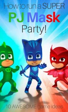 How to run a super PJ Mask party! 10 awesome party ideas by Easy Breezy Parties #pjmask #easybreezyparties
