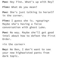 I don't ship Reylo, but this is pretty funny