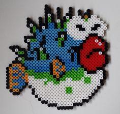 Perler bead Mario Porcu-Puffer fish.
