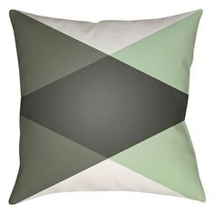 Intersecting Triangles Toss Pillow