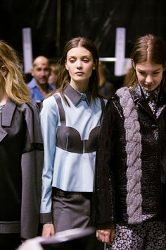 Trompe l'oeil shirts backstage at Viktor & Rolf AW14 PFW. More images here: http://www.dazeddigital.com/fashion/article/19066/1/viktor-rolf-aw14