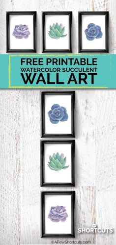 Keep up with the latest decor trend! Go now to download this Printable Watercolor Succulent Wall art and add a pop of color to your favorite room!