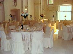 navata allestita per matrimonio | da CastellodegliAngeli