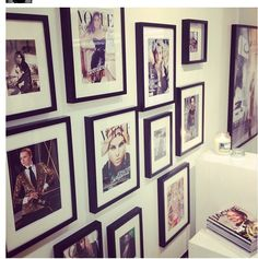 Don't know what to do with all your magazines? Just hang them on the wall. Its where fashion meets interior! Love it! #Fashion #Interior #DIY