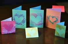 Simple Stenciled Heart Cards - Make and Takes