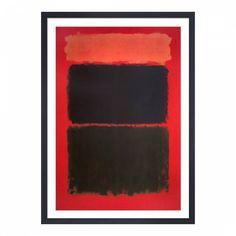 Mark Rothko himself refused to adhere to any art movement, however he is generally identified as an abstract expressionist known for his abstract canvases featuring blocks of glowing colour. Front Room Furnishings, Mark Rothko, Abstract Canvas, Paper Size, Dining Room, Red, Painting, Black, Products
