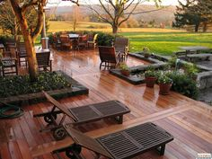 Lovely, Large Deck Design for An Outdoor Oasis