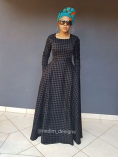 African Maxi Dresses, Ankara Dress Styles, African Attire, African Wear, African Clothes, Modest Fashion, Fashion Outfits, Kaftan, African Prints