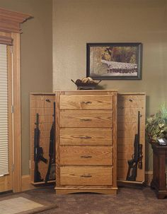 dresser with gun safe