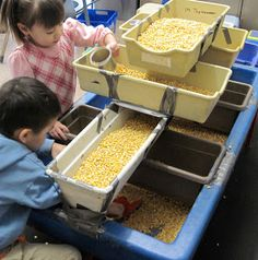 SAND AND WATER TABLES: MULTIPLE TRAYS=MORE PLAY
