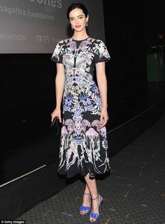 Krysten Ritter wears the Winter '16 Victory Print Dress to the Sag-aftra In Conversation with 'Jessica Jones'
