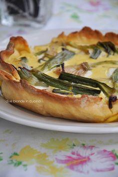 Due bionde in cucina: Quiche di cipollotti e formaggio fresco