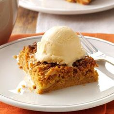 Great Pumpkin Dessert Recipe from Taste of Home