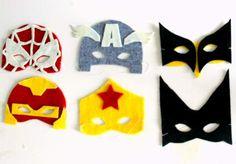 masques de super-héros en feutrine - à réaliser soi-même : explications ---> http://www.myzotte.fr/superheros/  #mask  #superhero  #partykid