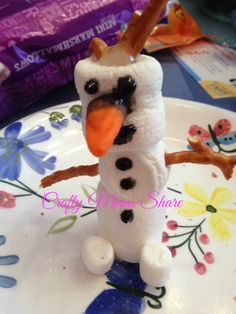Crafty Moms Share: Disney's Frozen -- Marshmallow Olaf and Party Activity Ideas